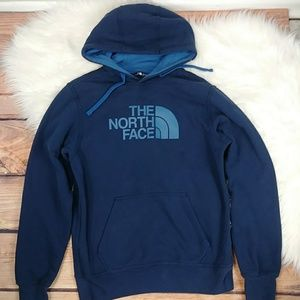 The North Face hoodie sweater men's small blue